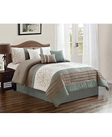 Luxlen Lyman 7 Piece Comforter Set, Queen