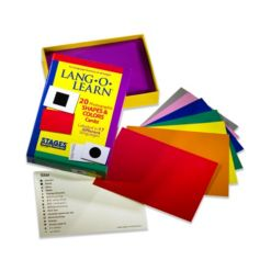 Stages Learning Materials Lang-o-Learn Esl Shapes Colors Vocabulary Photo Cards Flashcards