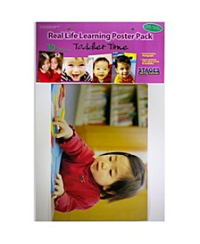 Real Photo Multicultural Toddler Time Poster Set