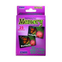 Stages Learning Materials - Picture Memory Card Game - Insects Bugs