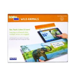 Stages Learning Materials Linf4fun Wild Animals Interactive Board Book With Free iPad App