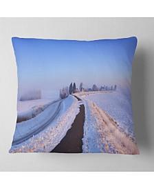 "Designart Sunrise Panorama Landscape Printed Throw Pillow - 26"" x 26"""
