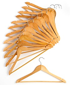 Honey Can Do Hangers, 24 Piece Set Wood Non Slip