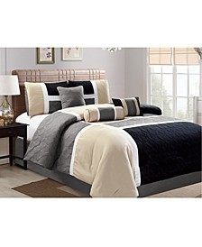 Scribner 7 Piece Comforter Set, King