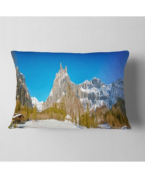 Design Art Designart Sixt Fer A Cheval Panoramic View Landscape Printed Throw Pillow 12 X 20 Reviews Decorative Throw Pillows Bed Bath Macy S