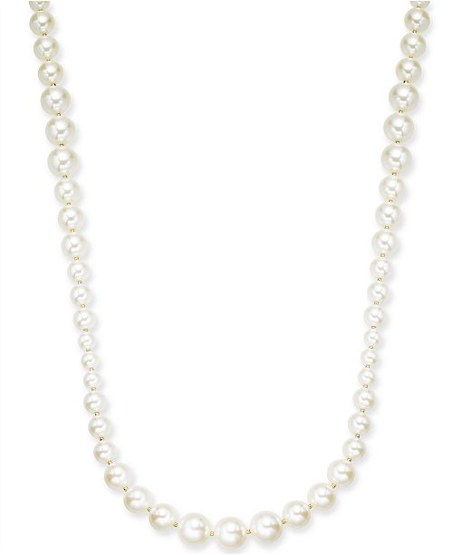 "Charter Club Gold-Tone Imitation Pearl Graduated Strand Necklace, 42"" + 2"" extender, Created For Macy's"