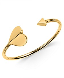 Heart & Triangle Cuff Bracelet