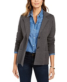 Petite Cotton Sweater Blazer, Created for Macy's