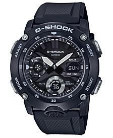 Men's Analog-Digital Black Resin Strap Watch 48.7mm