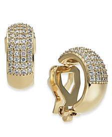 Danori Cubic Zirconia Pavé Clip-On Huggie Hoop Earrings, Created for Macy's