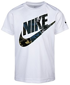 Nike Little Boys Camo Logo-Print Cotton T-Shirt
