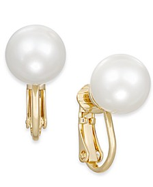 Gold-Tone Imitation Pearl (10mm) Clip-On Earrings, Created For Macy's