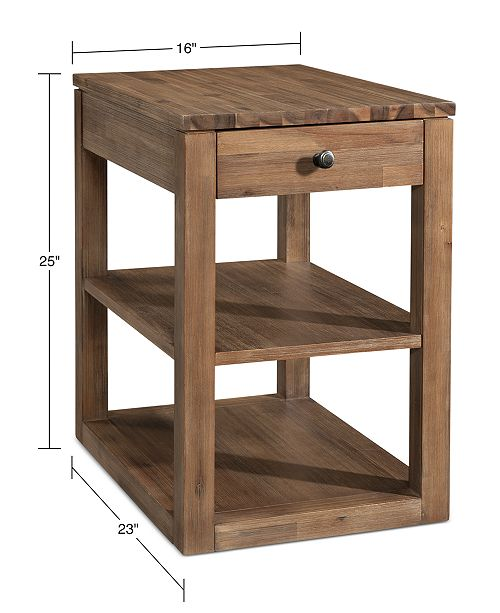 wholesale dealer ac109 7f38f Champagne Cube End Table, Created for Macy's