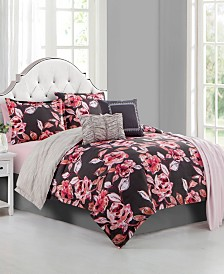 Ellen Tracy Fleur Du Jour 6-Piece Queen Comforter Set