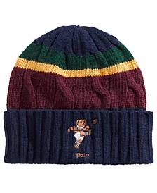 Colorblocked Rugby Bear Hat