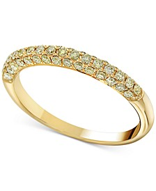 Yellow Diamond Band Ring (1/2 ct. t.w.) in 14k Gold