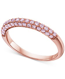 Pink Diamond Band Ring (1/2 ct. t.w.) in 14k Rose Gold