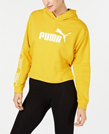 Puma Amplified Logo Cropped Hoodie