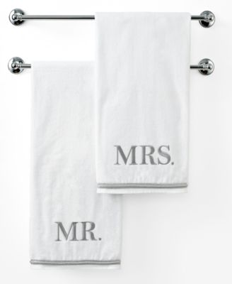 "Bath Towels, Mr. or  Mrs. 27"" x 50"" Bath Towel"