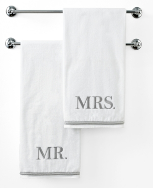 "Image of Avanti Bath Towels, Mr. or Mrs. 27"" x 50"" Bath Towel Bedding"