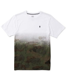 Volcom Big Boys Pounce Dip-Dyed Camouflage T-Shirt