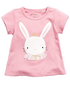 First Impressions Baby Girls Cotton Bunny T-Shirt, Created for Macy's