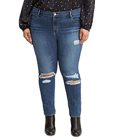 Trendy Plus Size 721 Ripped Skinny Jeans