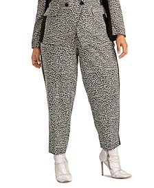 Trendy Plus Size Agatha Animal-Print Pants