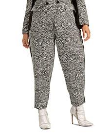 Trendy Plus Size Agatha Animal-Print Pants