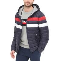 Deals on Tommy Hilfiger Mens Color Block Hooded Ski Coat
