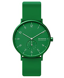 Aaren Kulor Aluminum Silicone Strap Watch 41mm Created for Macy's