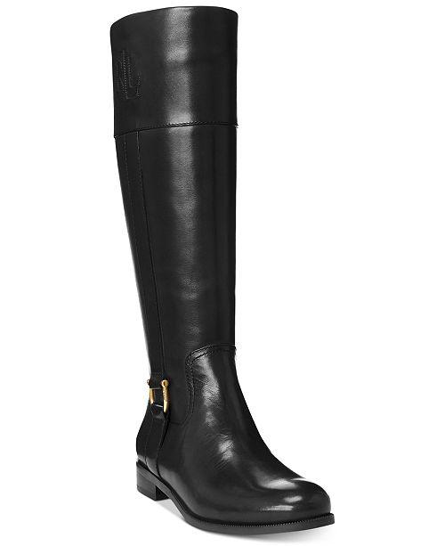 Lauren Ralph Lauren Bernadine Wide-Calf Riding Boots