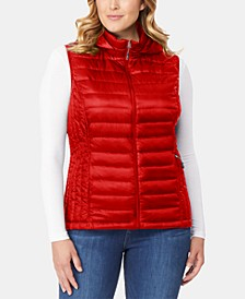 Plus Size Hooded Packable Puffer Vest, Created for Macy's