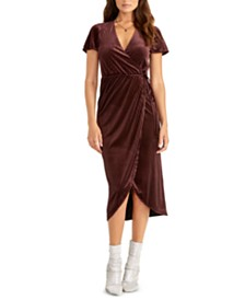 RACHEL Rachel Roy Faux-Wrap Midi Dress