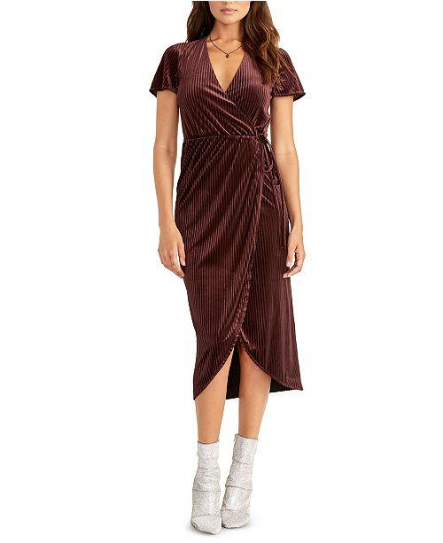 RACHEL Rachel Roy Faux-Wrap Midi Dress