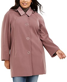 Plus Size Raglan-Sleeve Raincoat