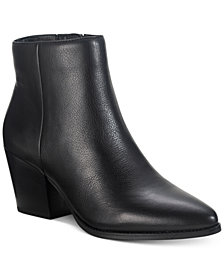 American Rag Eryn Leather Booties, Created for Macy's