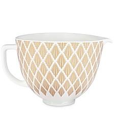 KSM2CB5PGC 5-Qt. Gold-Tone Conifer Ceramic Bowl