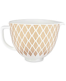 KitchenAid 5-Qt. Gold-Tone Conifer Ceramic Bowl KSM2CB5PGC