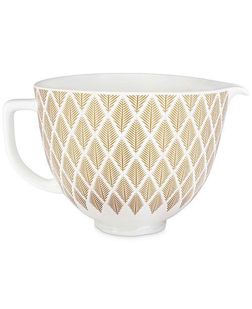 KitchenAid 5-Qt. Gold-Tone Conifer Ceramic Bowl KSM2CB5PGC