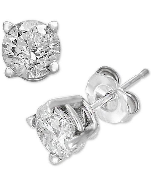 EFFY Collection EFFY® Diamond Stud Earrings (1/2 ct. t.w.) in 14k White Gold
