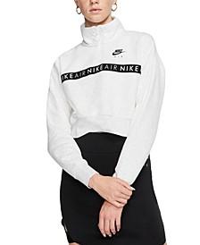 Women's Air Fleece Half-Zip Cropped Top