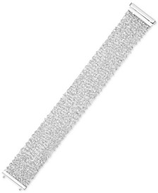 Sparkle Statement Bracelet in 14k White Gold-Plated Sterling Silver