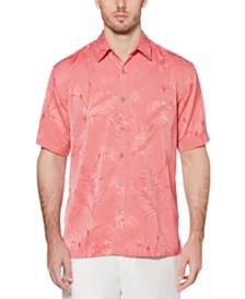 Cubavera Men's Big & Tall Jacquard Tropical Shirt