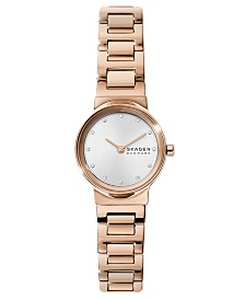 Skagen Women's Freja Rose Gold-Tone Stainless Steel Bracelet Watch 26mm