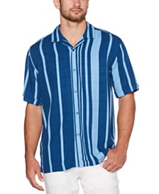Cubavera Men's Big & Tall Bold Striped Shirt