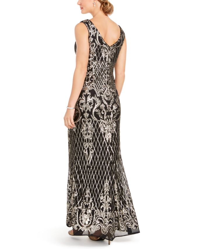 R & M Richards Sequined Gown & Reviews - Dresses - Women - Macy's