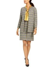 Plaid Jacket, Blouse, Skirt