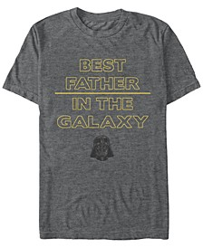Men's Classic Best Father In The Galaxy Short Sleeve T-Shirt