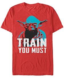 Star Wars Men's Classic Yoda Train You Must Short Sleeve T-Shirt
